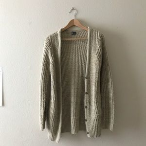 Urban Outfitters Oatmeal Knit Cardigan